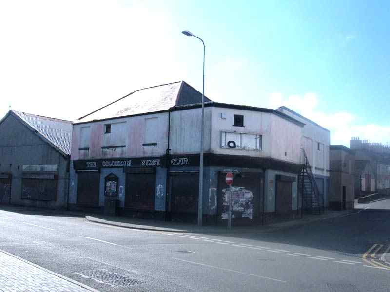 The dilapated building that was once the Snooker Club
