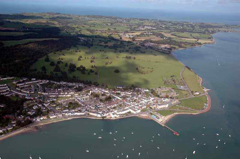 Beaumaris Town from the air