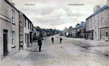 Llanerchymedd in 1906 - the druid Arms on the left