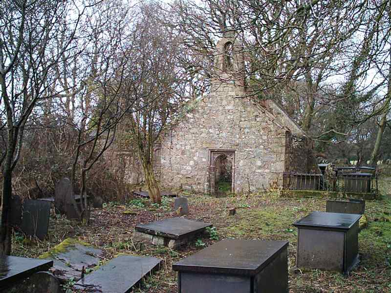 The old Llanfihangel Ysceifiog - Pentre Berw Church