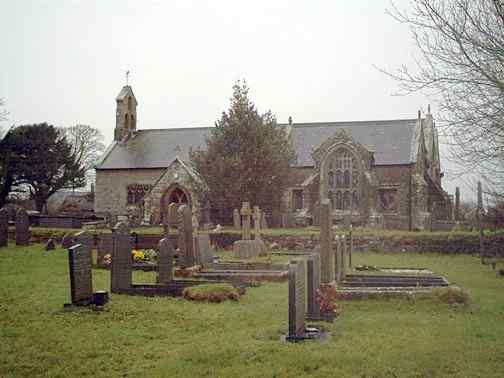 Llangadwaladr Church - St Cadwaladr's - lomg one of Anglesey's most important churches historically