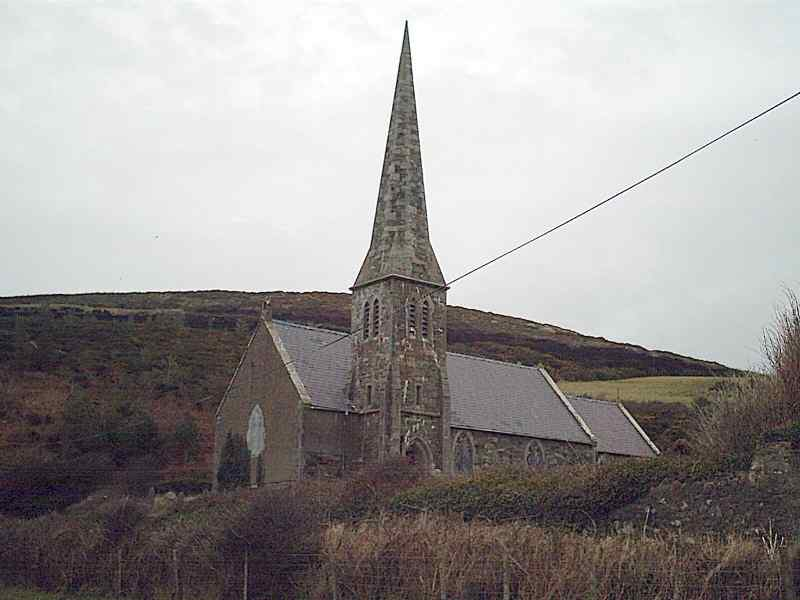 Llanrhuddlad Church - St Rhuddlad's - Church Bay is so called because the spire may be seen from the sea