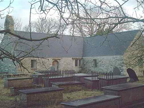 The original Llantrisant Church - Three Saints - Gafran, Ieuan and Sannan