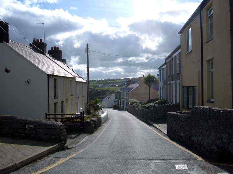Moelfre - looking down the village