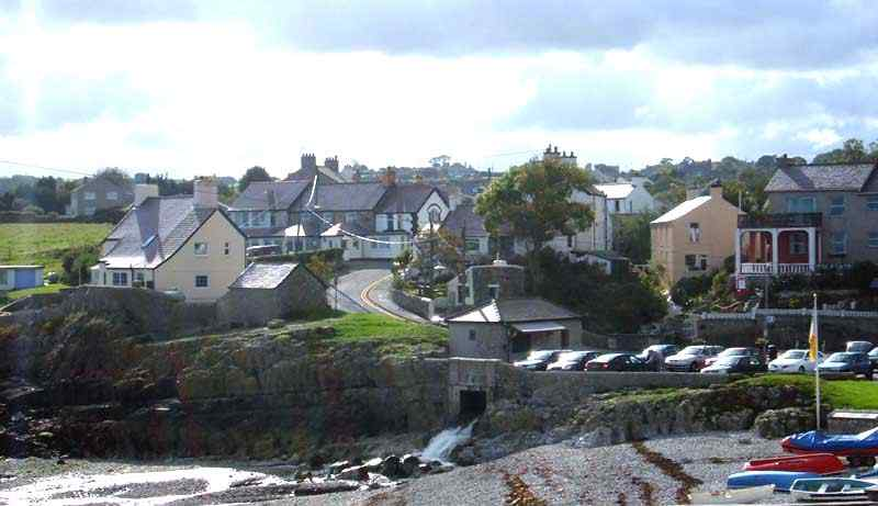 Moelfre looking down to the beach