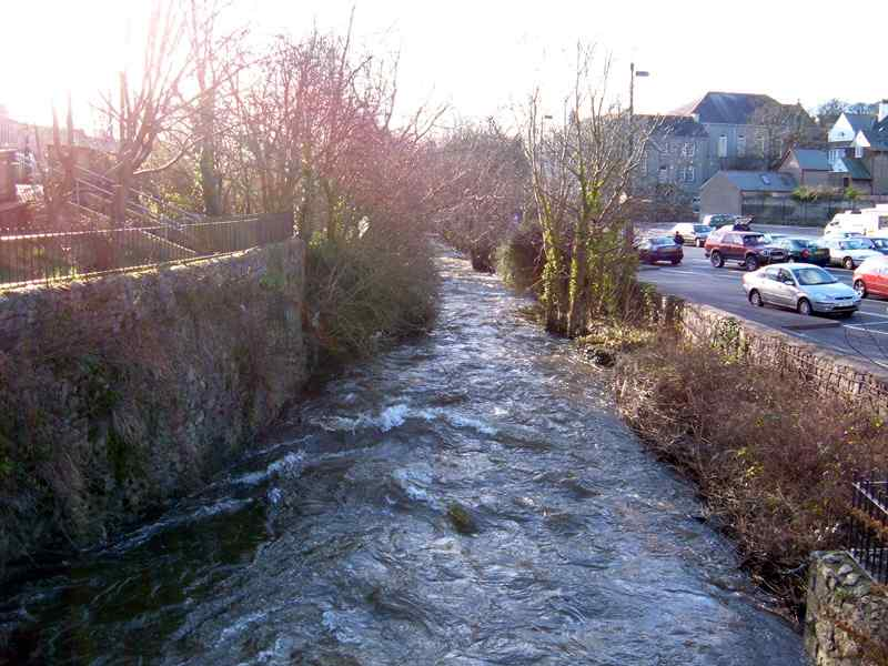 The River Cefni which flows through the centre of the town