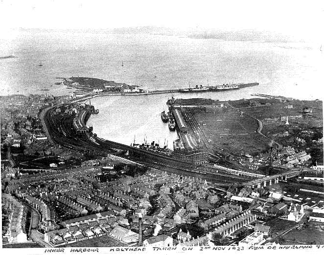 An aerial Photo Holyhead 1923