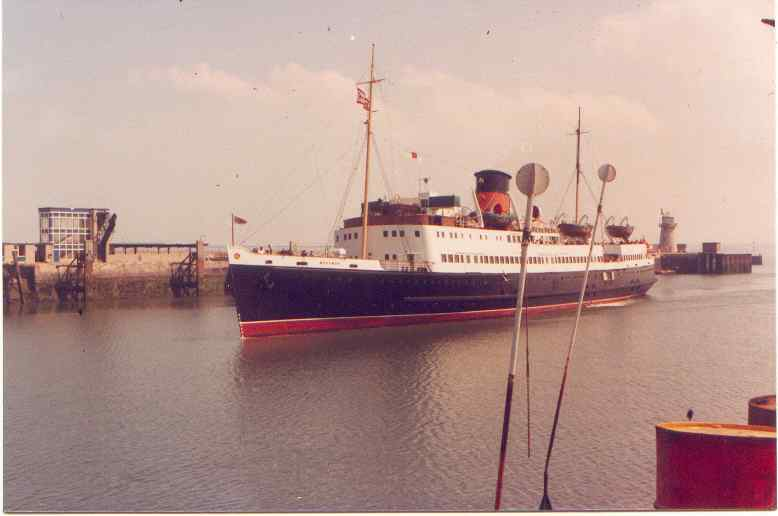 One of Holyhead's mailboats entering the harbour