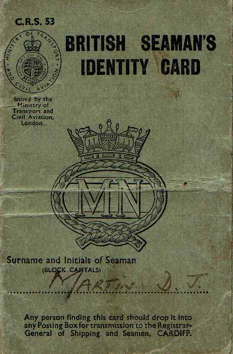 British Seamans ID Card