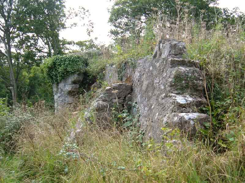 Castell Aberlleiniog Outer Walls and Stone Pillar