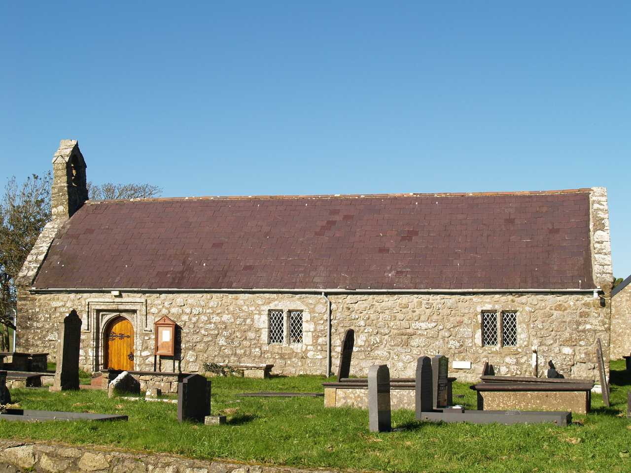 tregaian church on anglesey