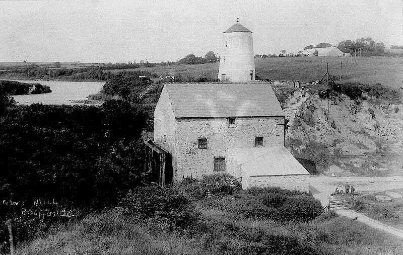 Anglesey, Bodffordd - early photograph of Frogwy Windmill and Water Mill
