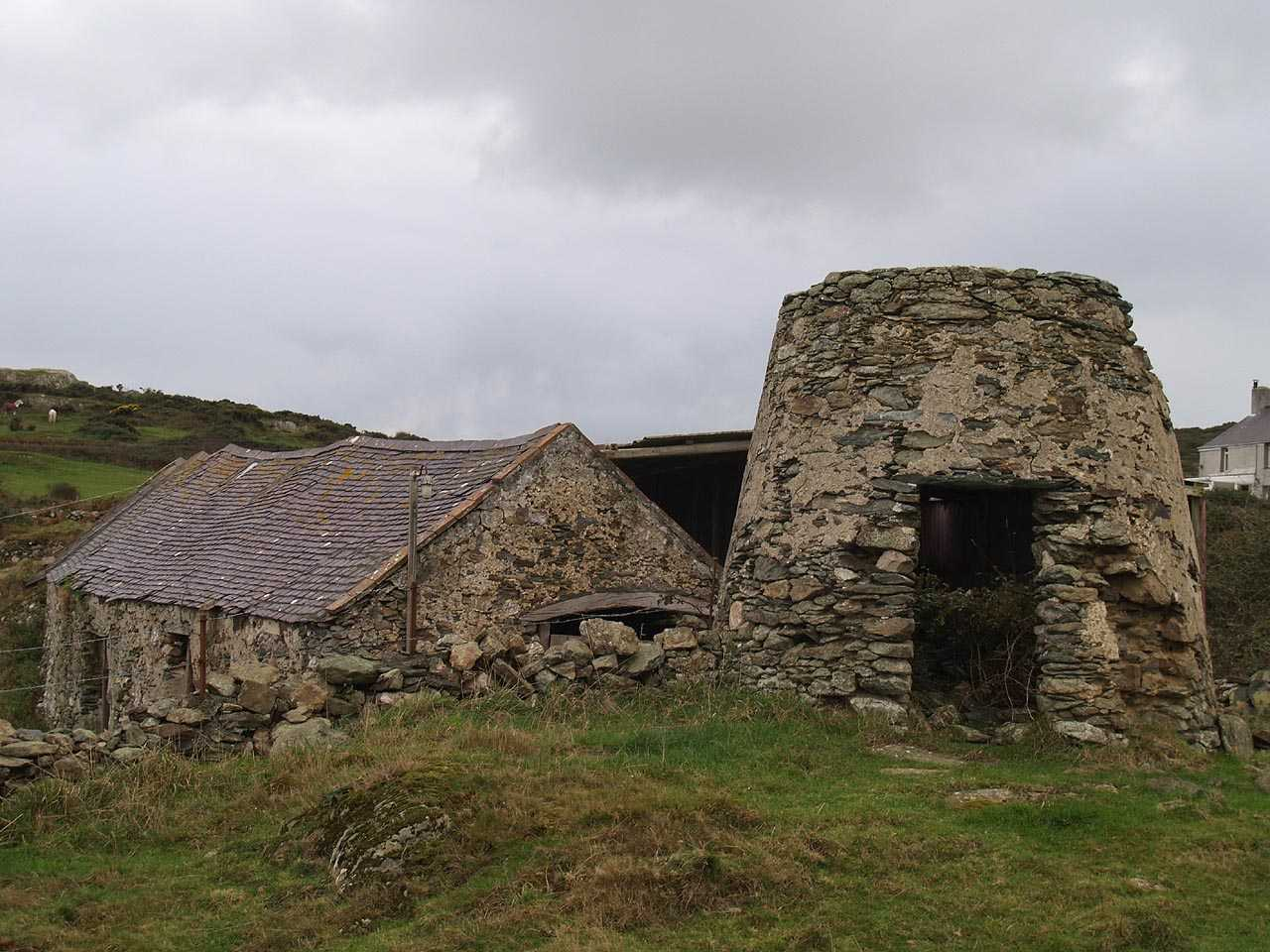 Bull Bay, Melin Y Pant Windmill and old Barn