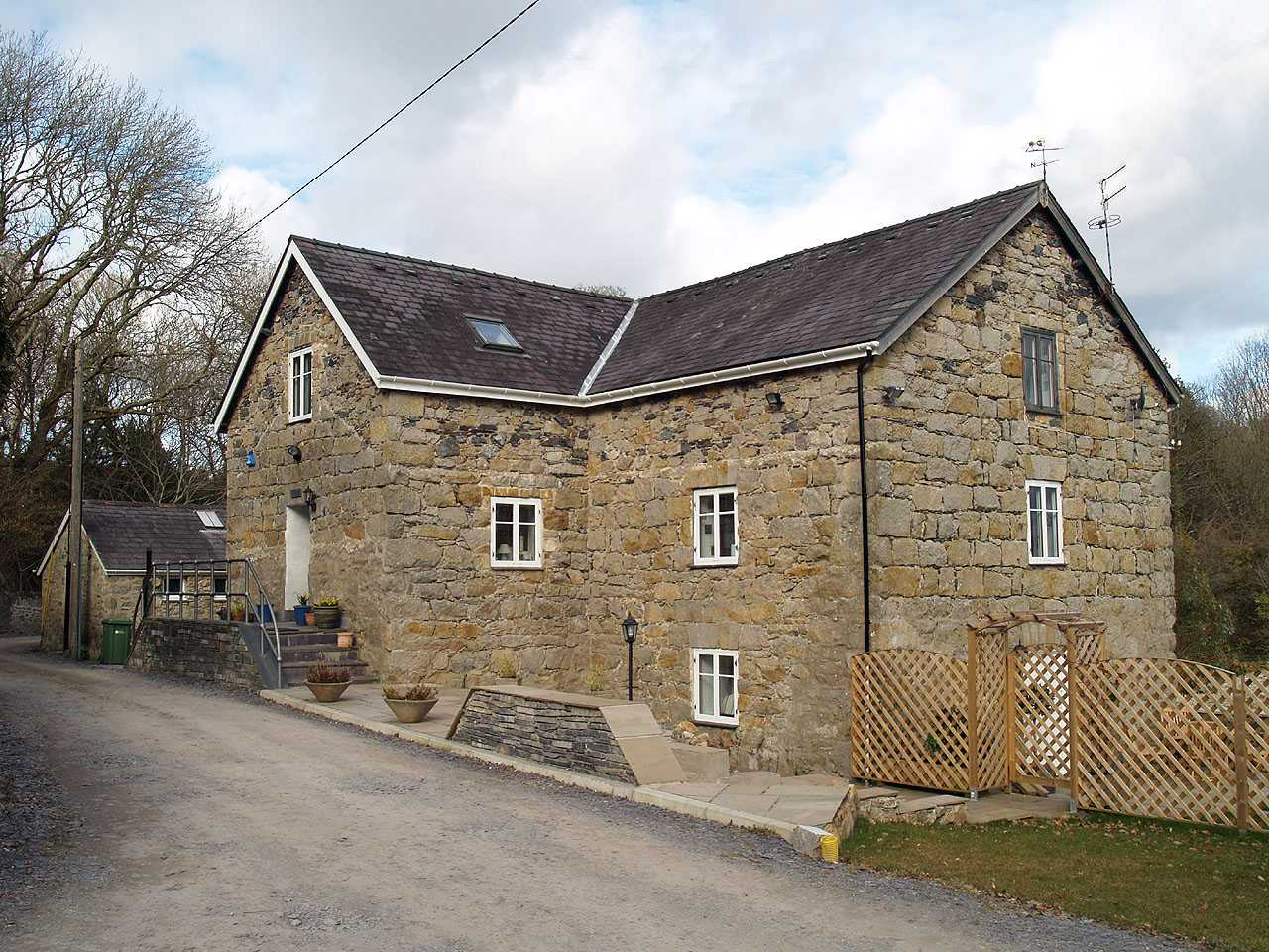 Llanfair Pwllgwyngyll, Pwll Fanogl Water Mill - what is now the front entrance