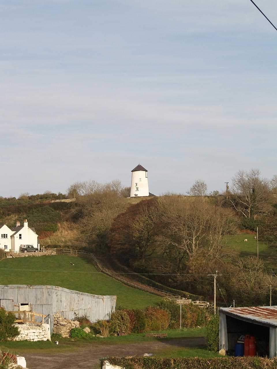 Llangoed, Melin Tros-y-Marian Windmill and surroundings