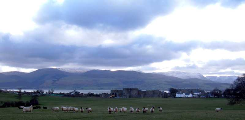 Anglesey, Beaumaris, Castle & Mountains