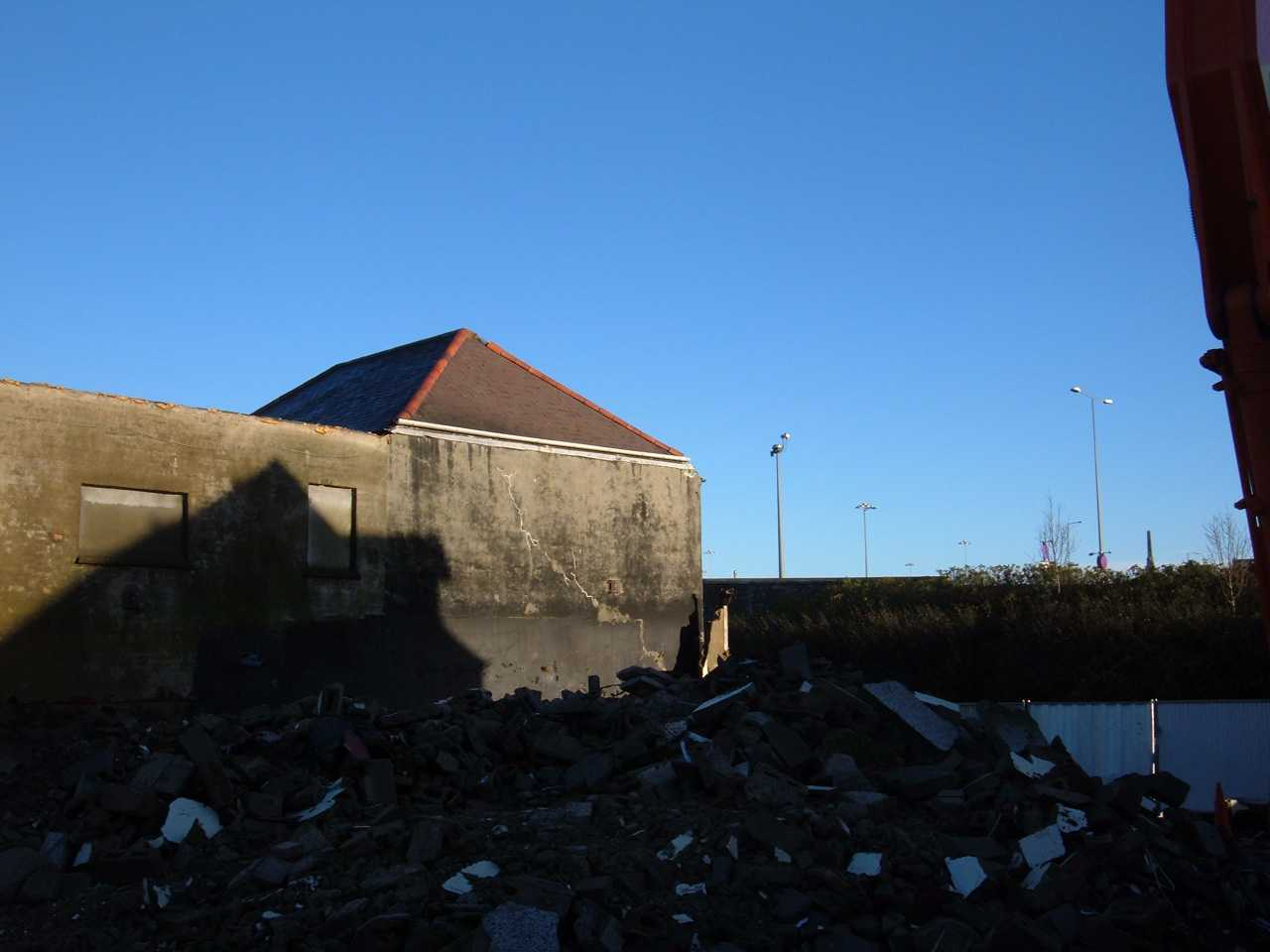 Anglesey, Holyhead, Kingsland, The rubble that was once Crossville Depot Dec 2006