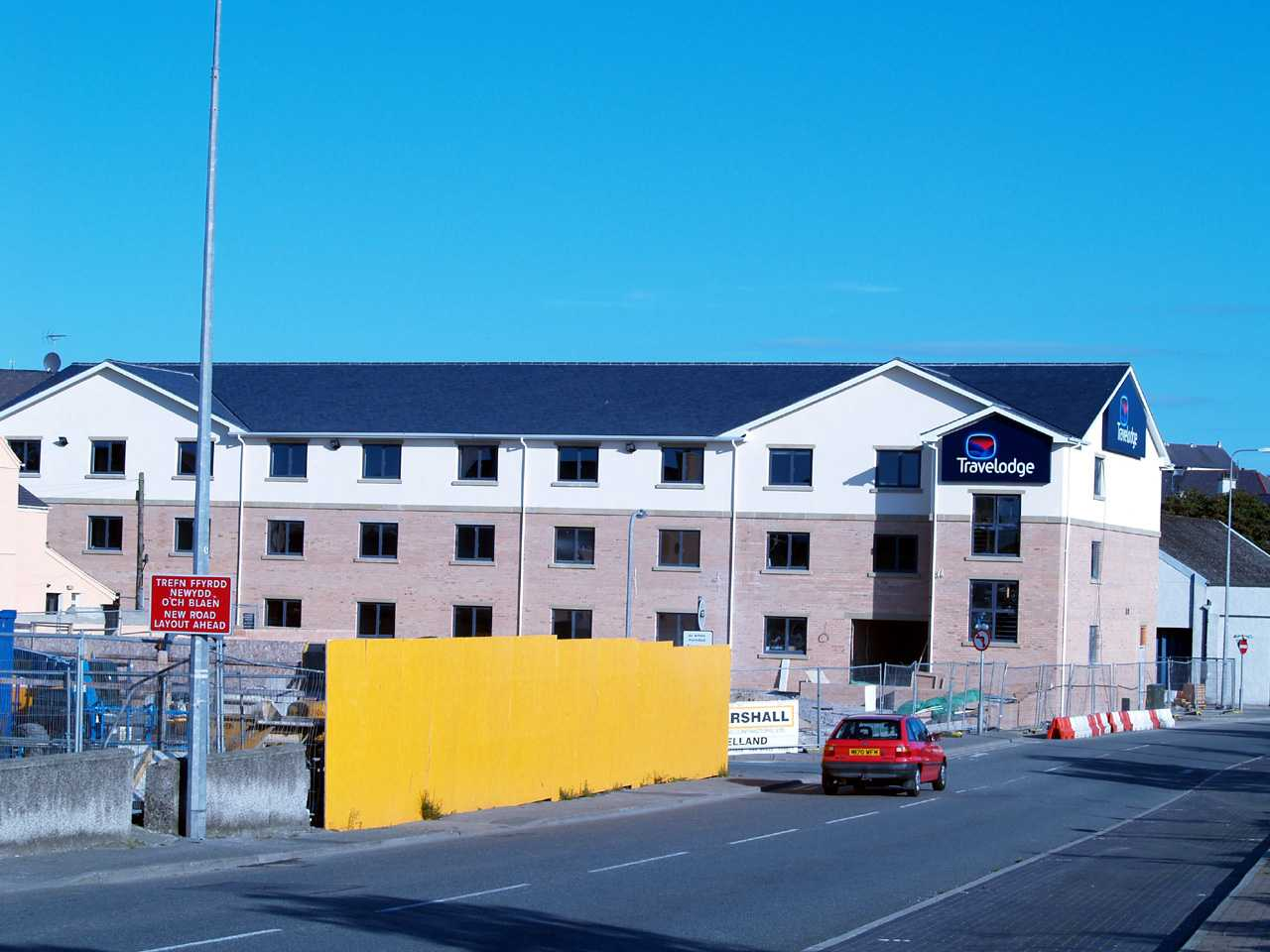 Anglesey, Holyhead, Travelodge Hotel near completion 260807
