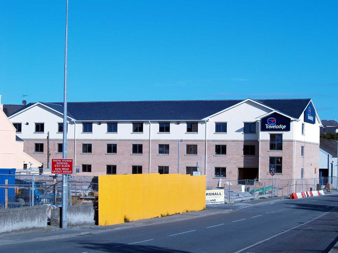 Anglesey, Holyhead, Travelodge Hotel near completion 26th August 2007