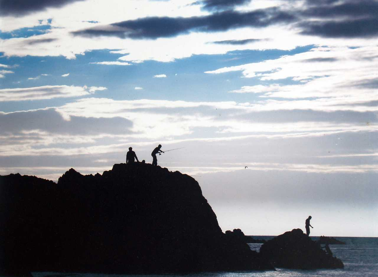 Anglesey, Sandy Beach, Evening Fishing