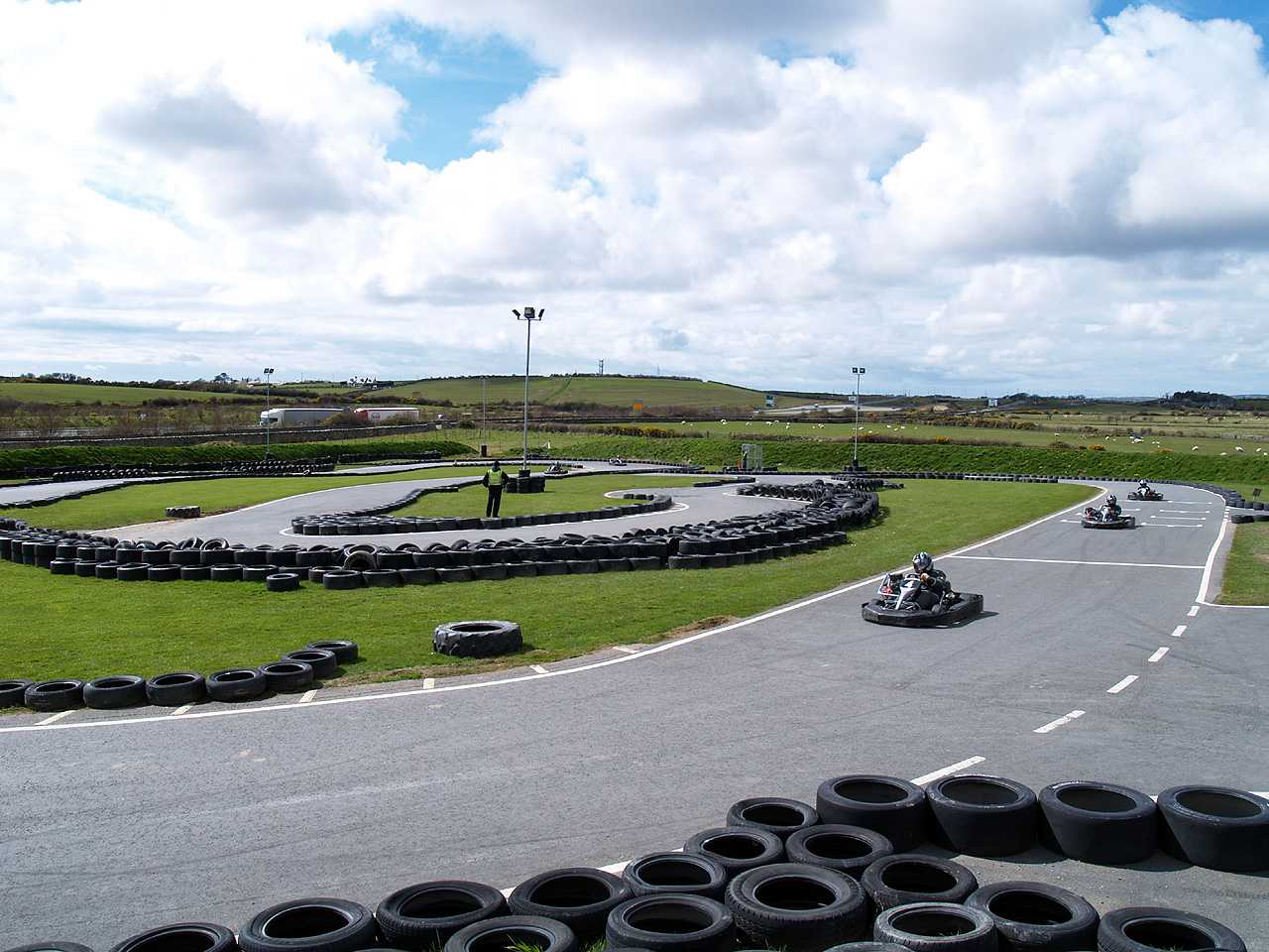 Panoramic view of Anglesey Karting
