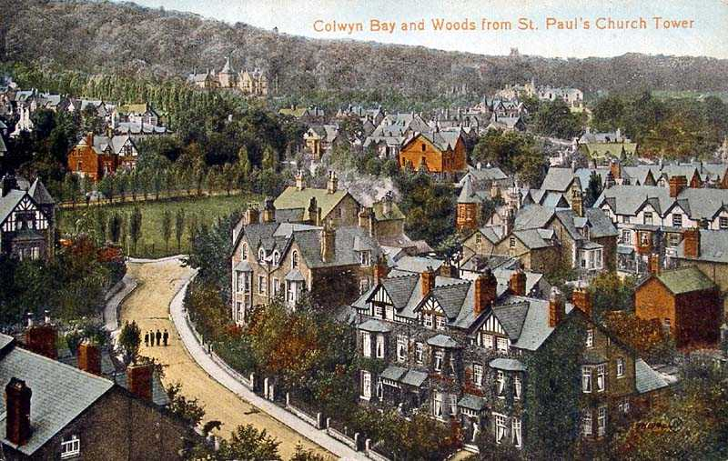 Colwyn Bay & Woods from St Paul's Church Tower 1921