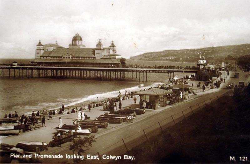 Colwyn Bay Pier & Prom looking East