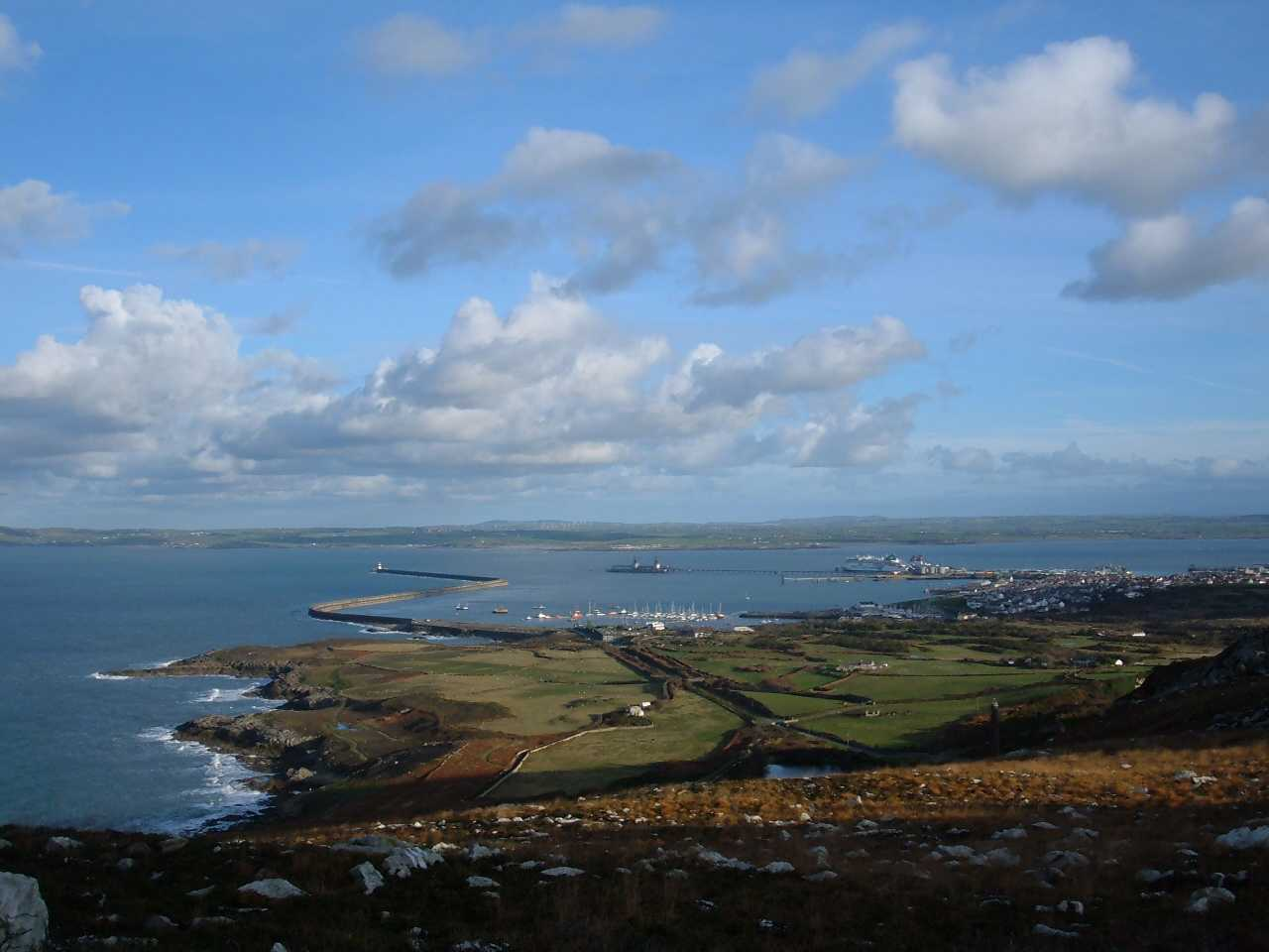 Holyhead Breakwater from Holyhead Mountain