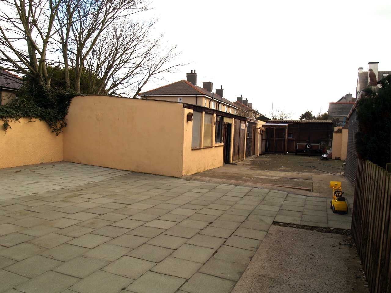 Yard and workshops at back of house with multiple uses in house for sale in Holyhead2