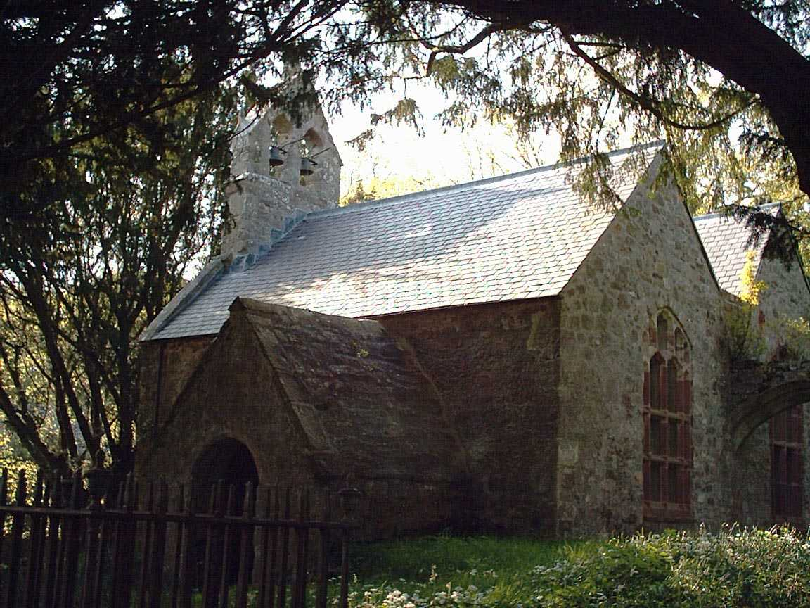 The old  Llanidan Church - St Idan / Nidan's