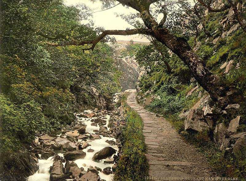 llanberis - cennant mawr, the glen old photo