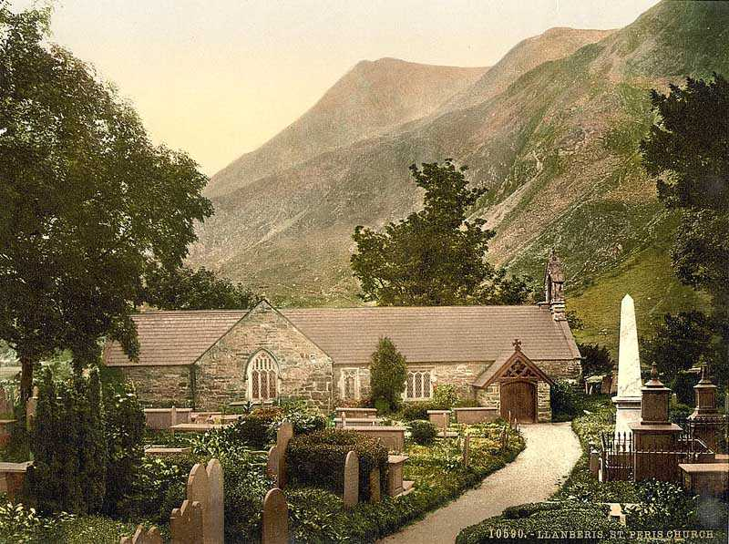 llanberis - st. peris church old photo