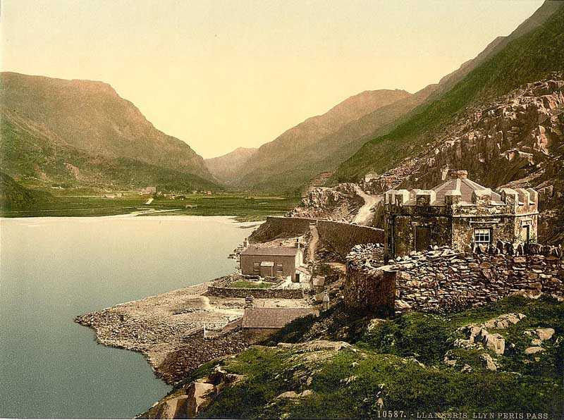 llanberis,  llyn peris pass in the 1900s