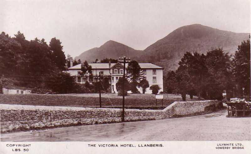 llanberis, early photo of the victoria hotel