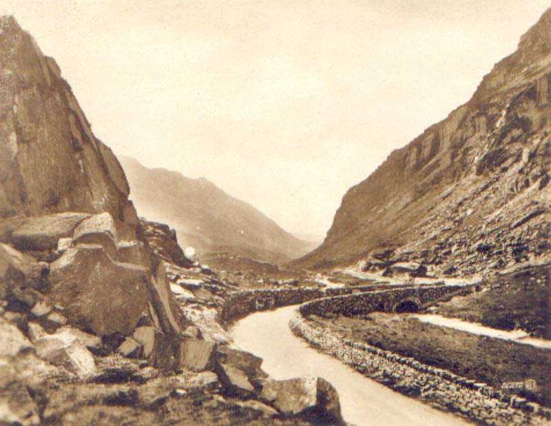 llanberis, llanberis pass early image