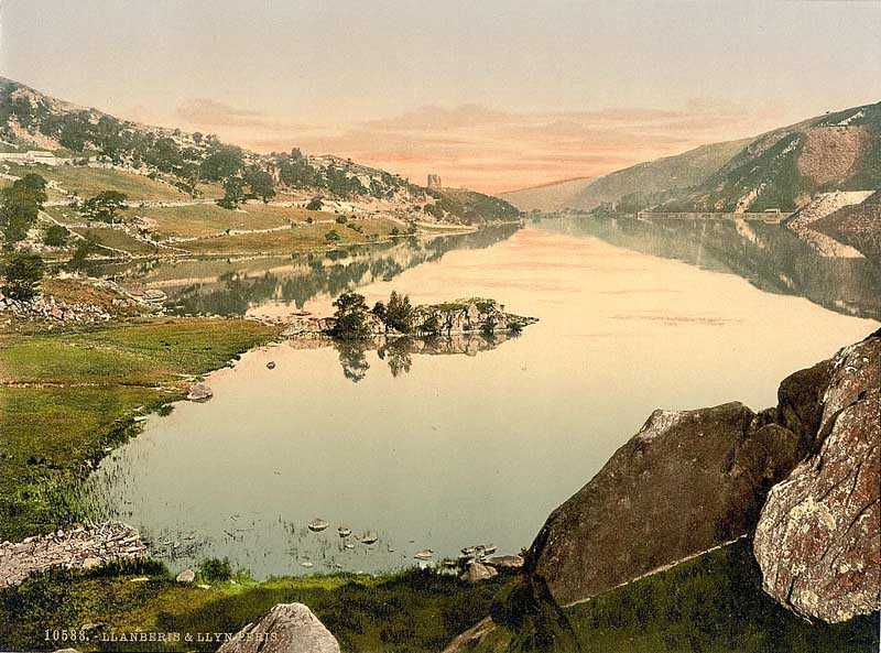 llanberis, llyn peris in the 1890s