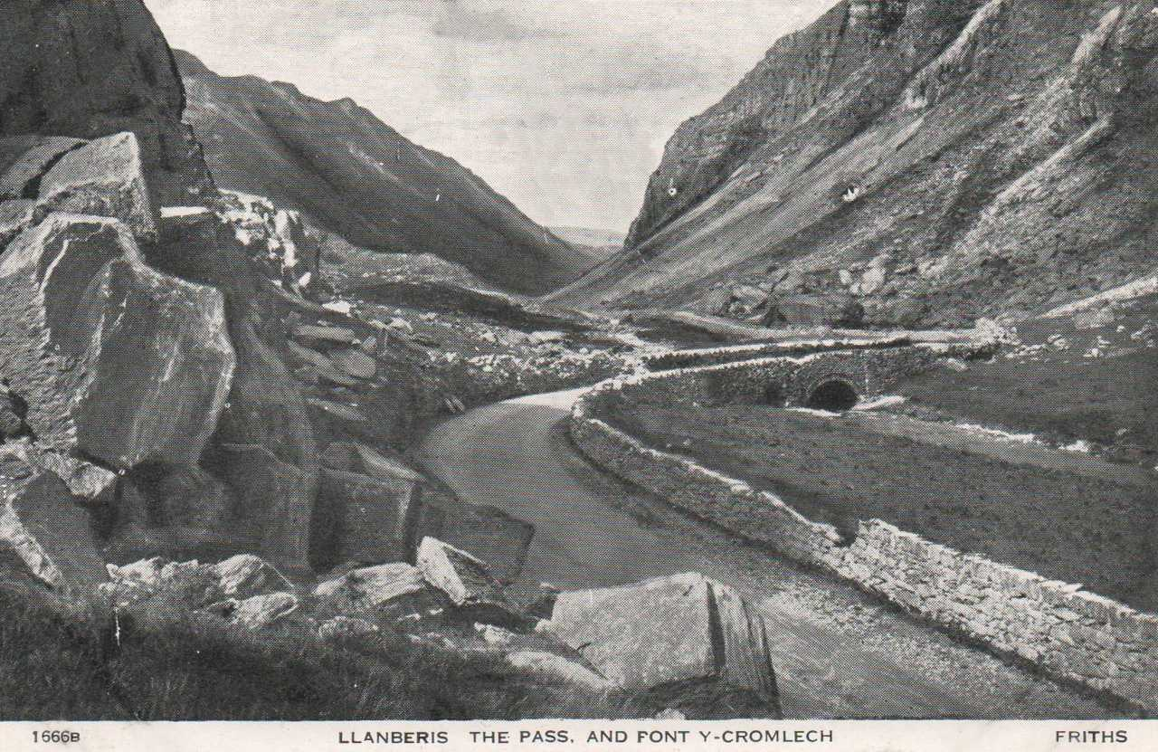 llanberis, pont y cromlech bridge old photo