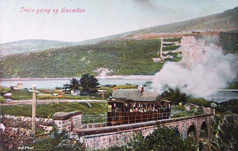 llanberis, snowdon train 1910's