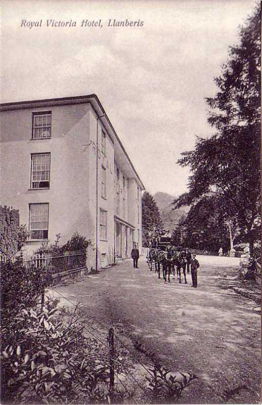 llanberis, victoria hotel vintage photo