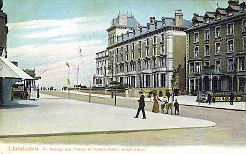 llandudno, prince of wales hotel in the 1910's