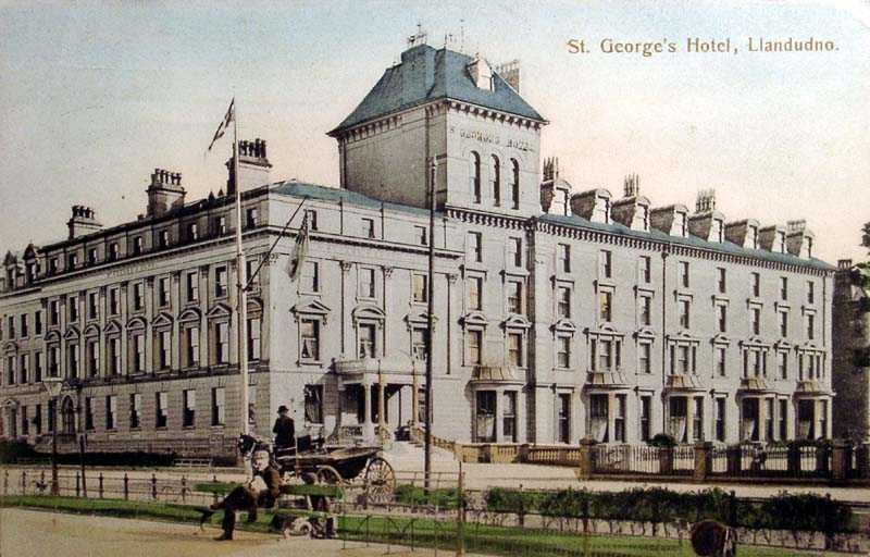 llandudno, st george's hotel in the 1900's