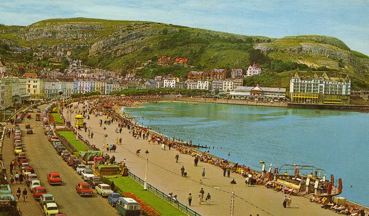 llandudno, the seafront in the mid 1960's