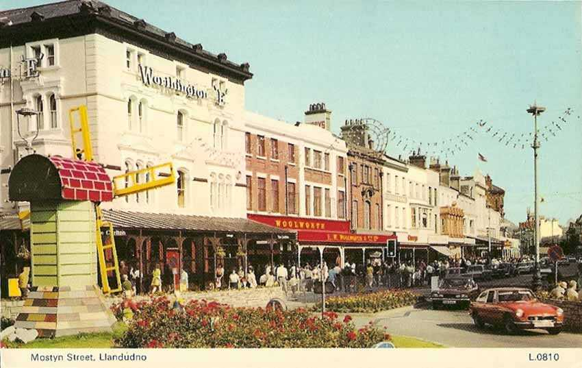llandundo, mostyn street - showing woolworths in the 1970's
