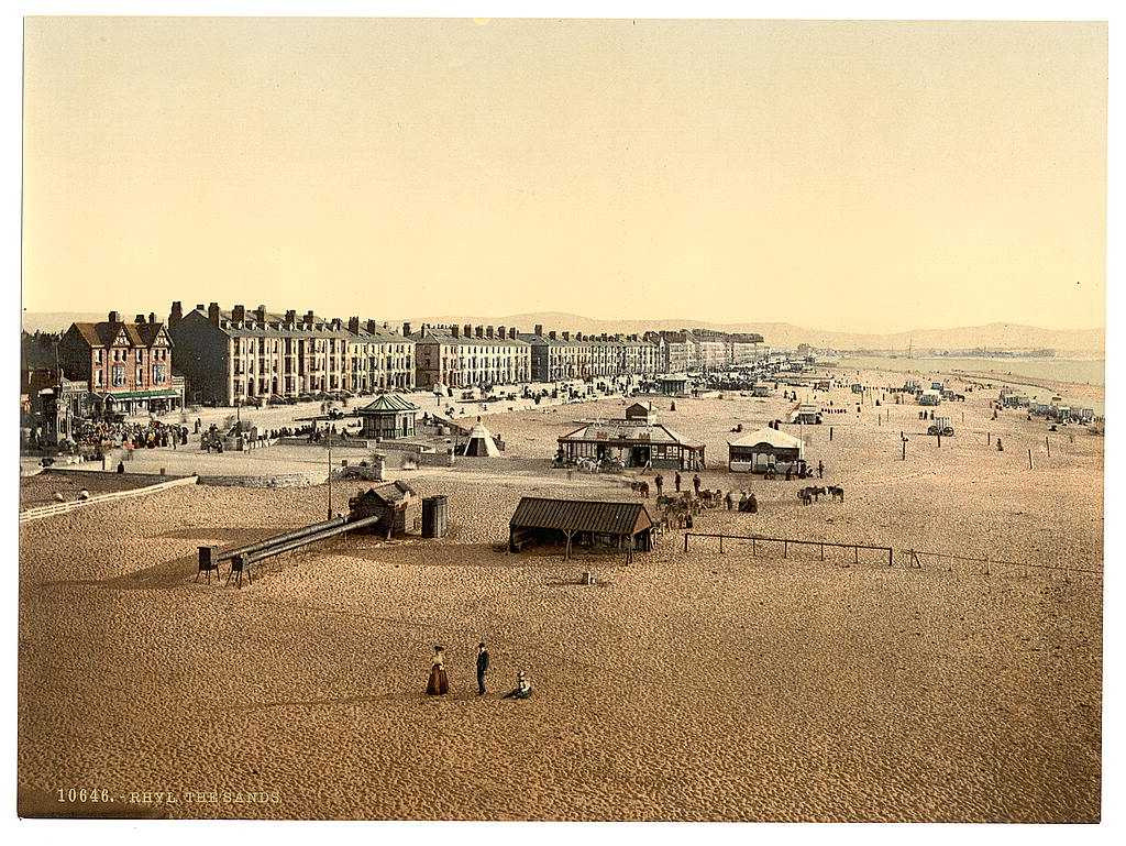 Rhyl Sands in tyhe late 1890's