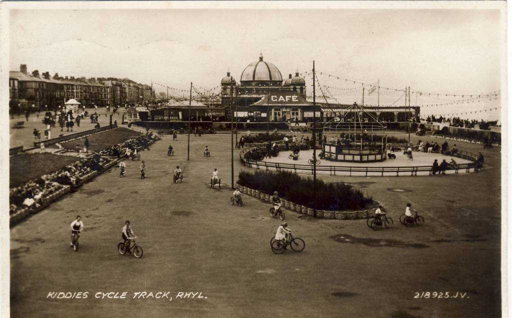 Rhyl, Children's Cycle Track 1920's