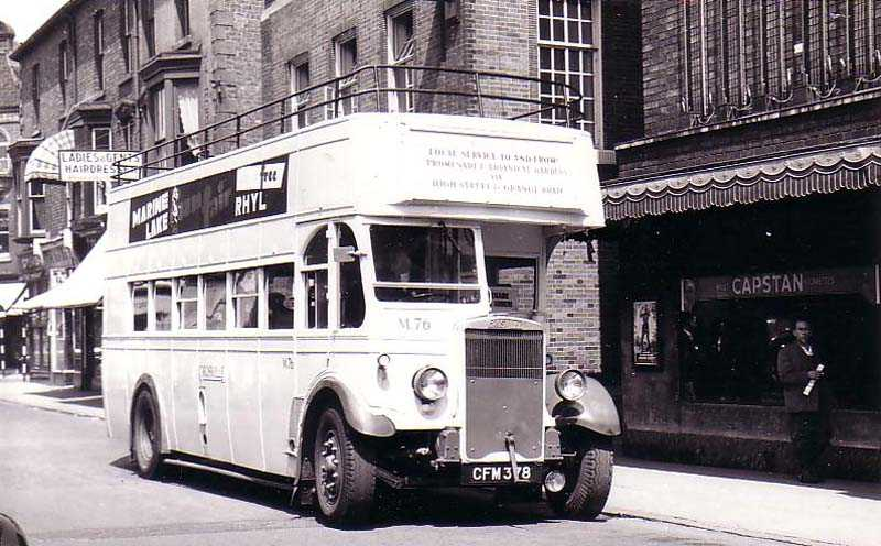 Rhyl, Double Decker Bus in the 1950's