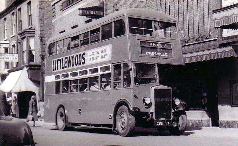 Rhyl, Double Decker Bus, in the 1950's