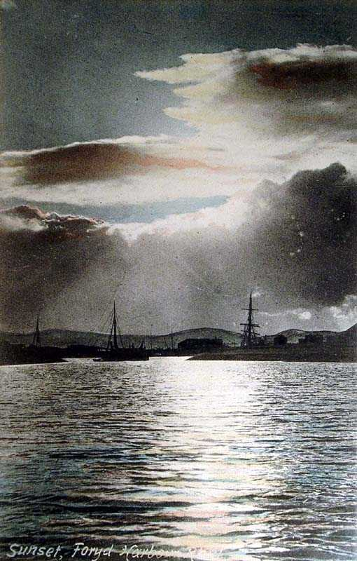 Rhyl, Foryd Harbour, Sunset 1906