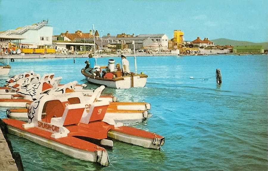 Rhyl, Marine Leisure Park 1960's - Boating on the Lake