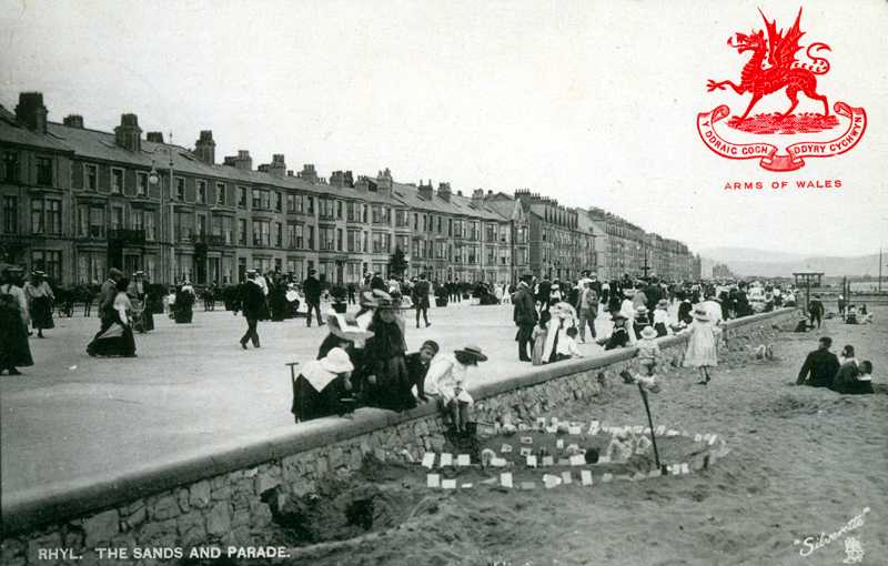 Rhyl, The Sands and The Parade 1900's